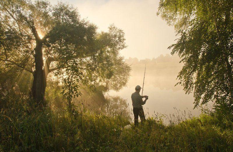 утро туман рыбак Утро выходного дняphoto preview