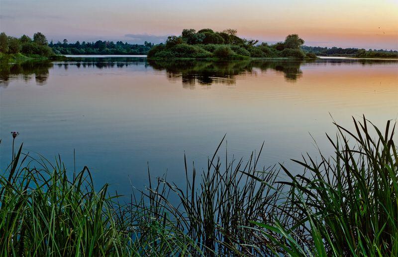 nevant60 пейзаж природа закат Река Десна в ночиphoto preview