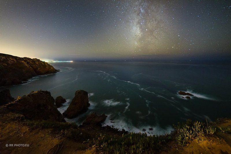 sky, night, milky way, stars, portugal, cabo da roca, sintra, lANDSCAPE Night sky at Cabo da Rocaphoto preview