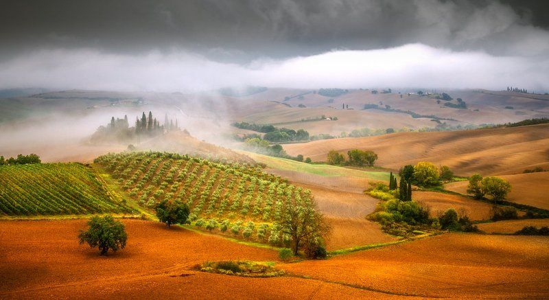 tuscany, val d\'orcia, italy, sunrise, sunset, clouds, ireland, galway Tuscanyphoto preview