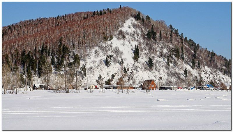 пейзаж, зима, снег, горы Дом под горой! photo preview