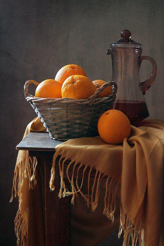 натюрморт, апельсины, витамины, фрукты Солнышки в корзинке)photo preview