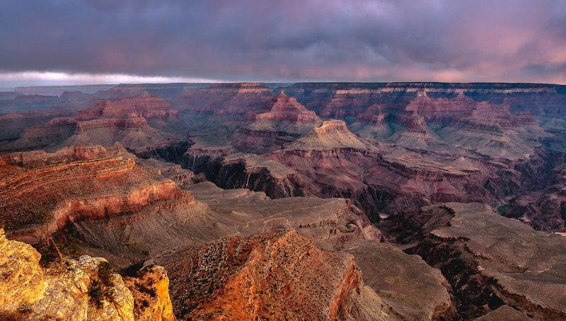 grand canyon, arizona, colorado, morning, dawn, clouds Dawn at Grand Canyonphoto preview