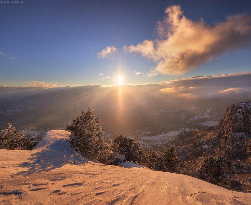 крым, демерджи, закат, зима, зимний крым, южная демерджи Breath Of Winterphoto preview