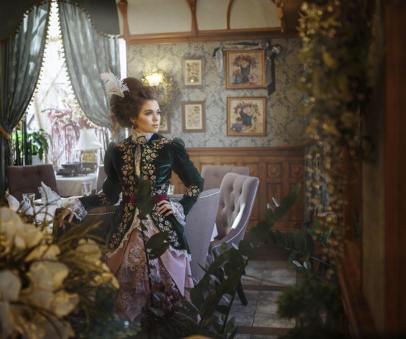 девушка, ретро, прошлый век, бархат Дарья (ретро)photo preview