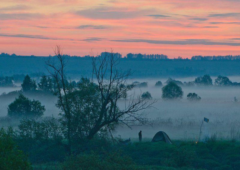 утро восход туман река упа природа першино Под одеялом будущего дняphoto preview