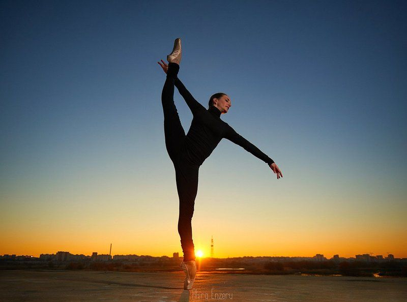 ballerina, dance, dancing, portrait, sunset Sunset moodphoto preview
