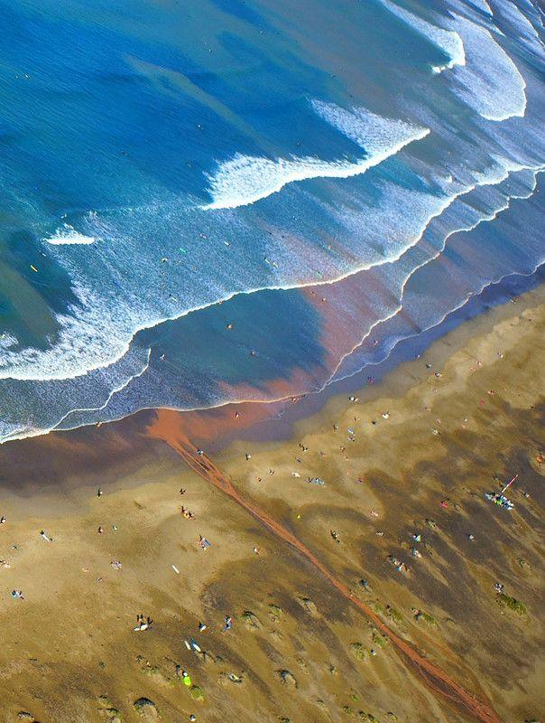 Испания, Канарские острова, Лансароте, море, аэро, aerial Океан после ливняphoto preview