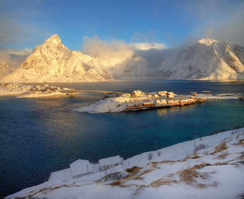 лофотенские острова... утро на Лофотенах...photo preview
