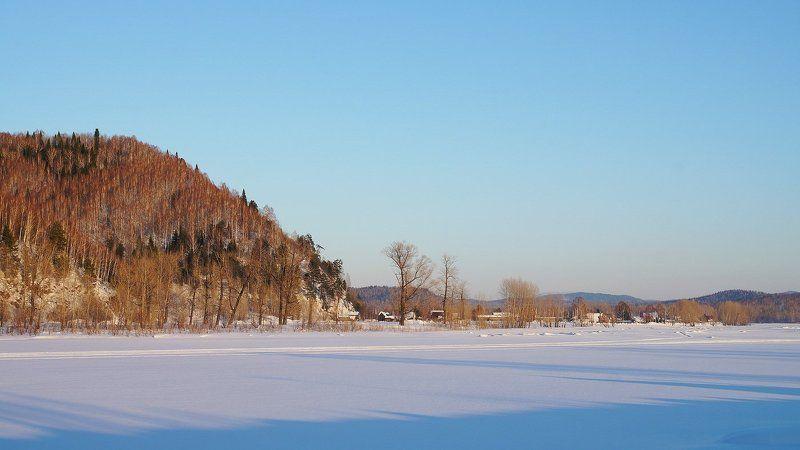 пейзаж, зима, снег,  Вечерело! photo preview