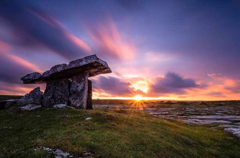 Poulnabrone Dolmen, Galway, Ireland, Clare, Longexposure, Long exposure, sunrise, sunset, cloud Poulnabrone Dolmenphoto preview