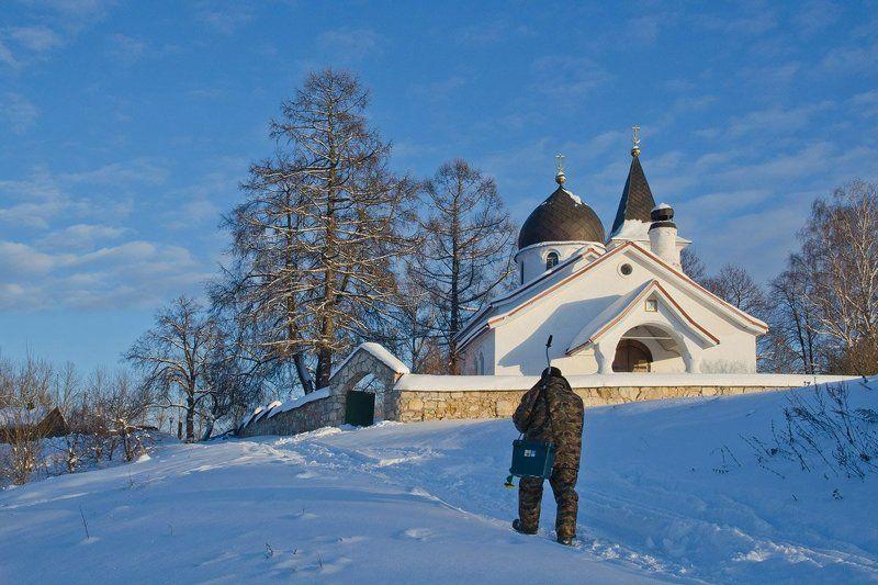 зима храм церковь бёхово Путь домойphoto preview