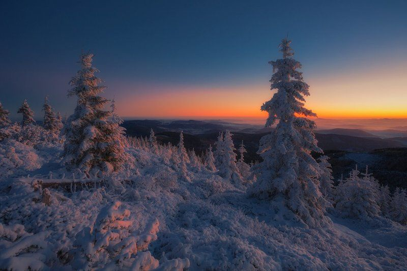 landscape,canon,winter,sunrise The Day Begins....photo preview
