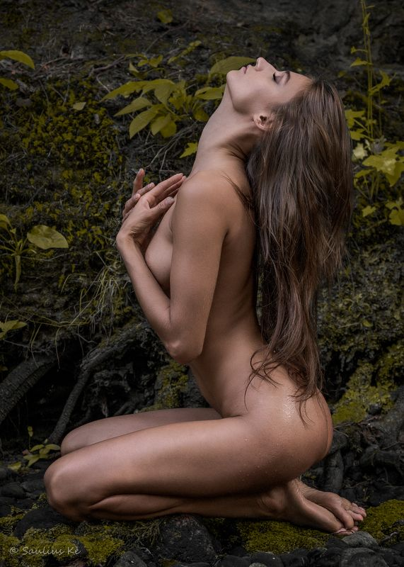 girl, female, pretty, nude, nature, model A prayerphoto preview