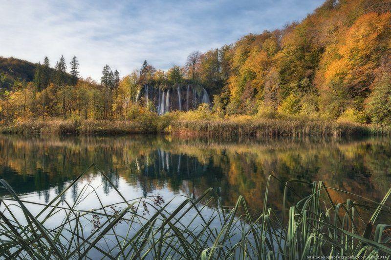 плитвица, озера, парк, осень, национальный, хорватия, водопад, пейзаж, озеро, природа, вода, европа, красивый, лес, зеленый, каскад, ручей, путешествия, пруд, река, туризм, синий, естественный, окружающая, среда, камень, красота, дерево, живописный, чисты Хорватия. Плитвицкие озера у водопада Galovac осеньюphoto preview