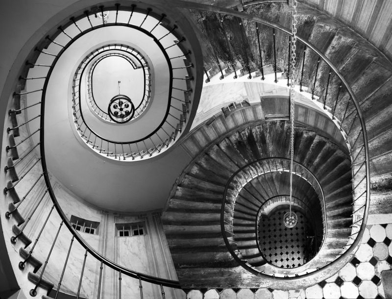 staicase, architecture, spiral, interion, depth, geomery, france, paris, abstract, surreal, collage Инь и яньphoto preview
