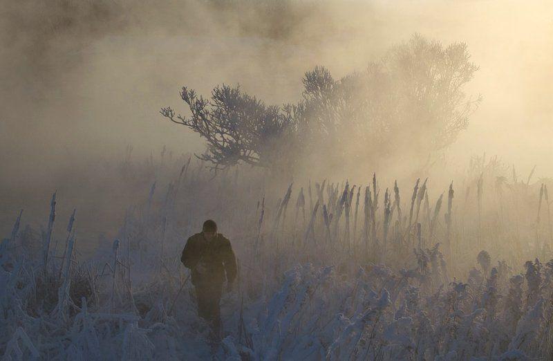 утро рассвет зима холод косая гора Долина холодовphoto preview