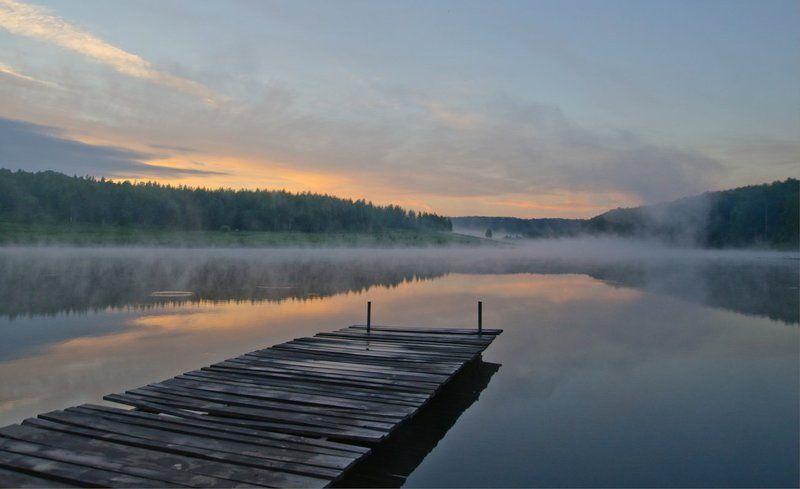 утро озеро новое пейзаж На озере Новом затишьеphoto preview