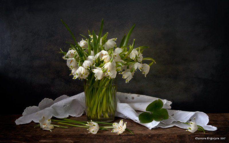 натюрморт, весна, первоцветы, весенние цветы, подснежники Весна на порогеphoto preview