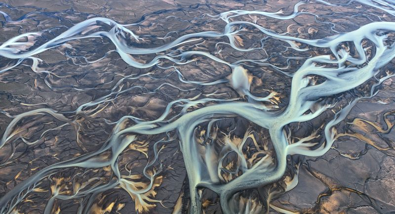 исландия, iceland Цветные реки Исландииphoto preview