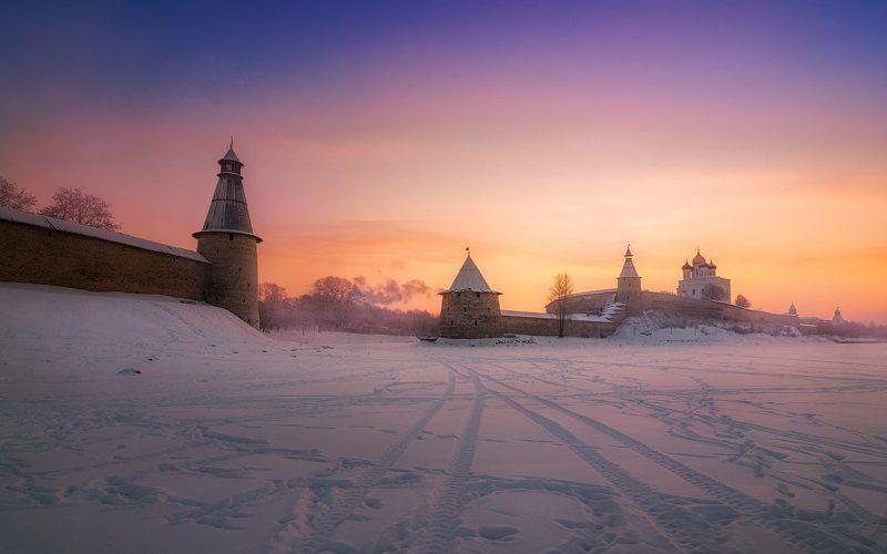 Кром, утро, зима, рассвет, утро, облака, снег, лёд, небо И было утро ...photo preview