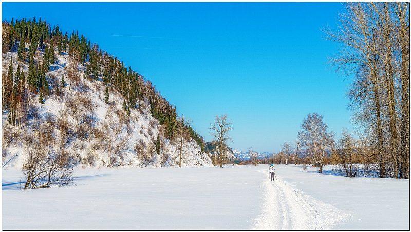 пейзаж, зима, снег, гры По чудесной лыжне! photo preview
