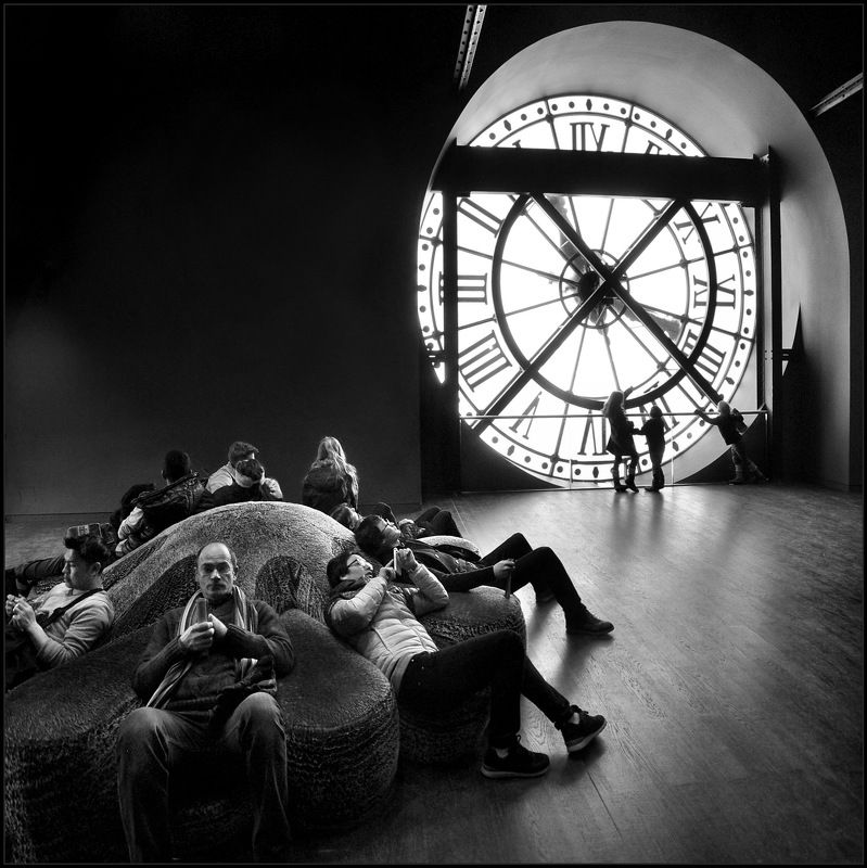city, archtecture, interior, clock, time, people, rest, hall, iron, museum, orsay, paris, Который час?photo preview