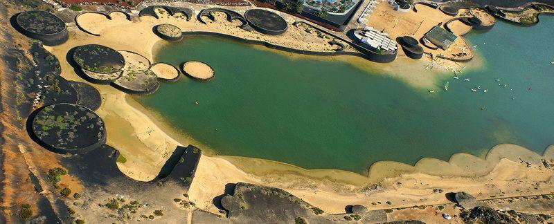 Испания, Канарские острова, Лансароте, дрон, коптер, аэро, aerial Фантастический заливphoto preview