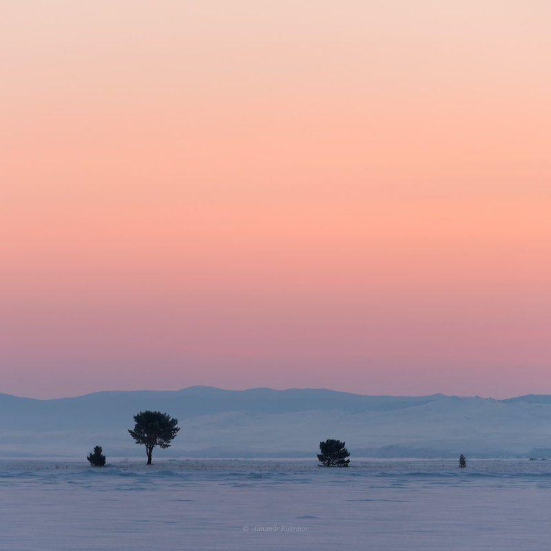 пейзаж, байкал, рассвет,зима Предрассветная мелодия Байкала...photo preview