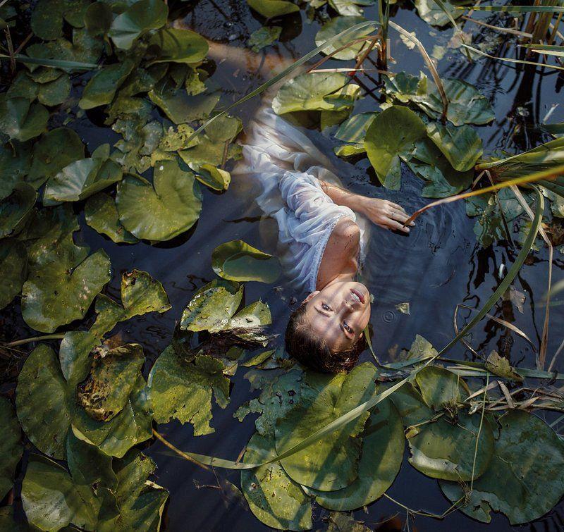 Dzhul irina, Girl, Irinadzhul, People, Portrait, Water Нимфаphoto preview
