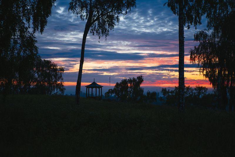 Плес, Иваново, Россия, пейзаж Огненный восход Солнца!photo preview