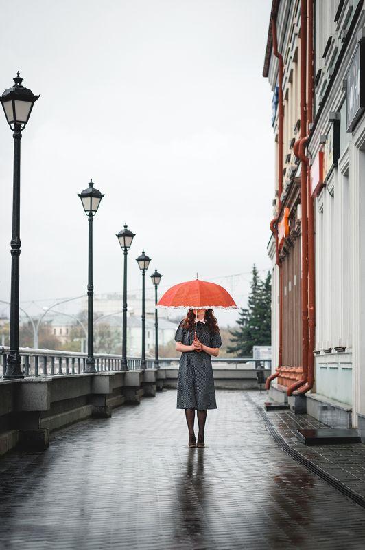 portrait vintage rerto girl fujifilm xe2 винтажная девушка портрет annromanovska the rain in Minskphoto preview
