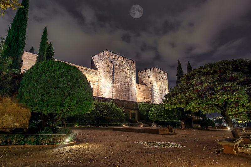 castle, garden, night castle, альгамбра, гранада, испания, Под стенами замка!photo preview