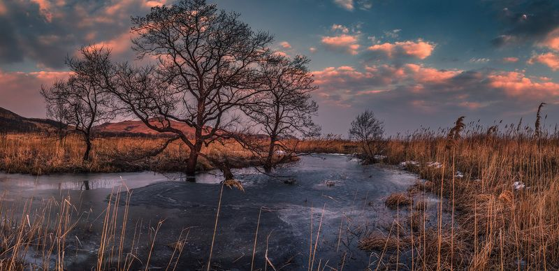 панорама, весна, вечер photo preview