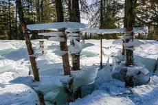 Ледяные фантазии горной реки