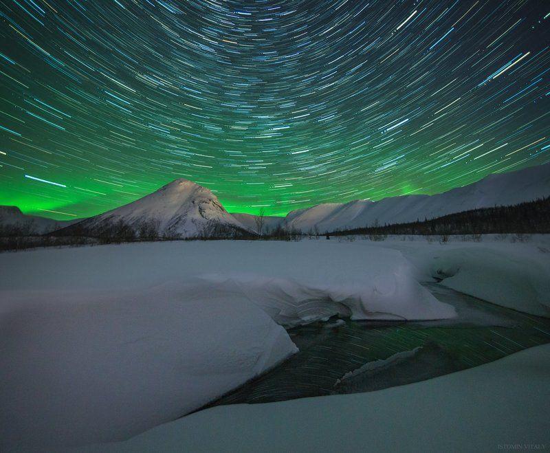 пейзаж,звезды,россия,вода,весна,снег,перспектива Долина малого вудъявраphoto preview