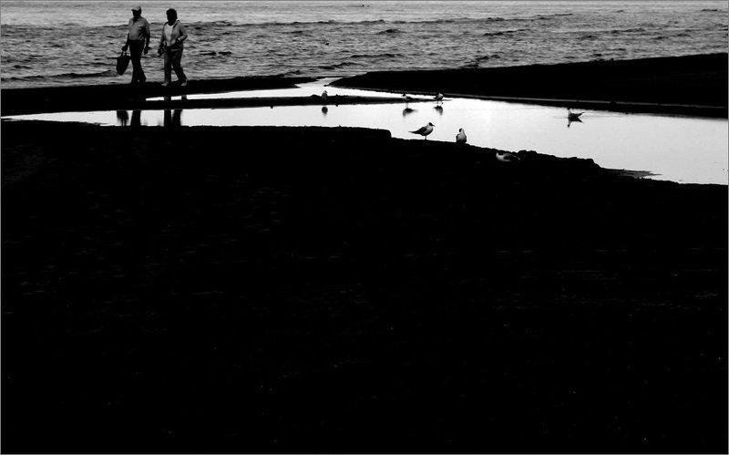 залив, лето, люди, лето на Рижском взморьеphoto preview