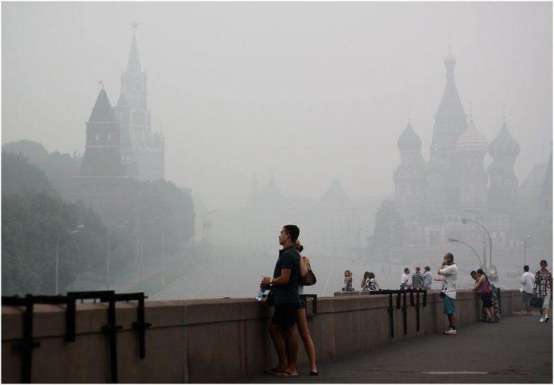лето, жара, москва, смог, август Прощание с Москвой...photo preview