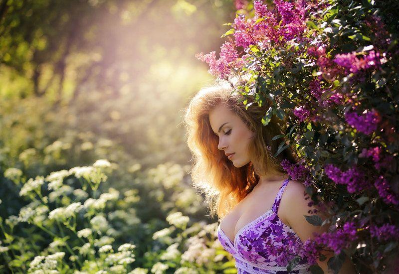 Девушка лето Сирень.photo preview