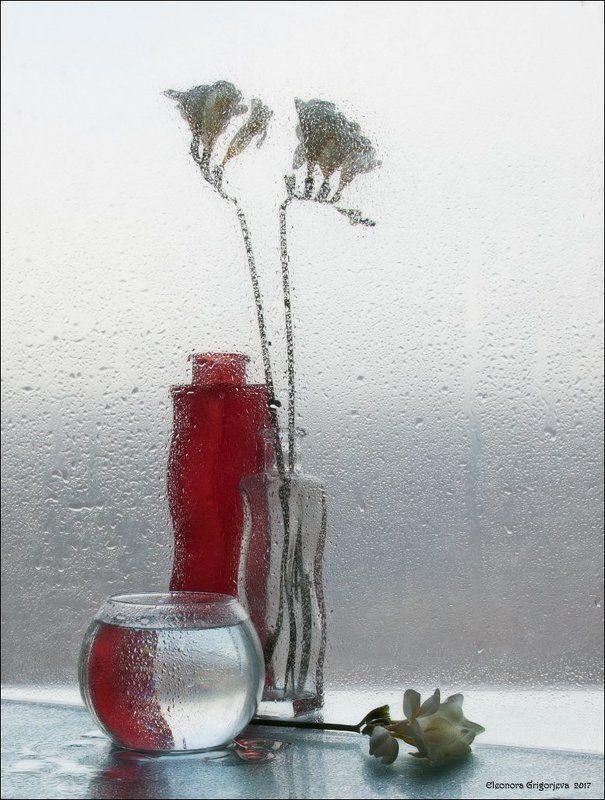 Красное, Мокрое стекло, Натюрморт, Прозрачное, Стекло Стеклянная серияphoto preview