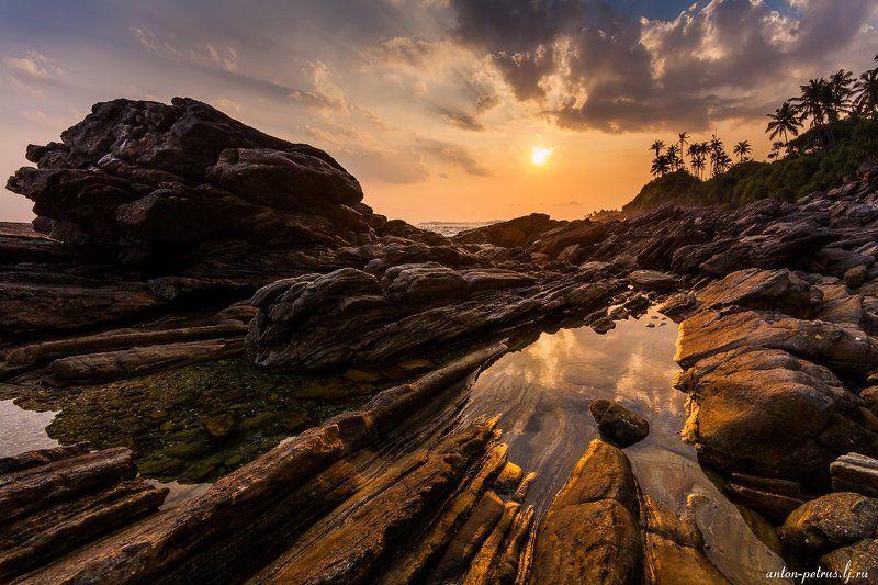 шри-ланка, закат, океан, небо Шрамыphoto preview