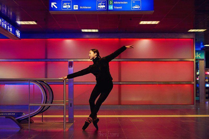 ballerina, ballet, dance, dancing, portrait, Главный вокзал в Цюрихеphoto preview