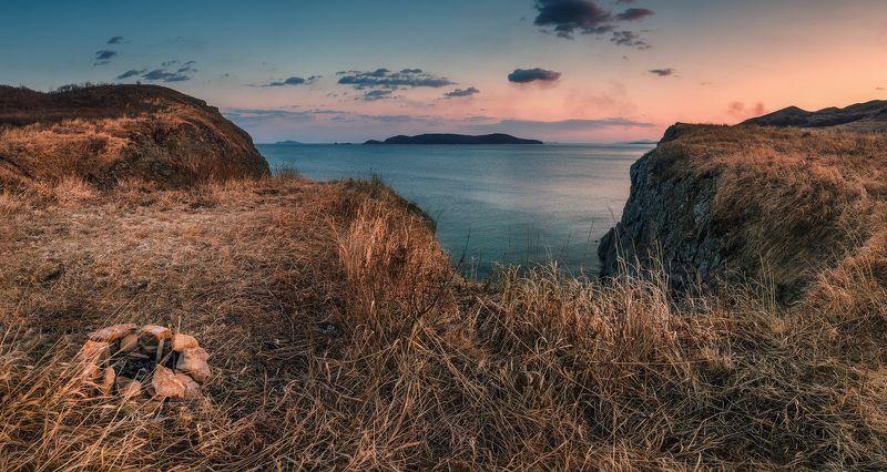 вечер, весна, скалы, море, камни ***photo preview