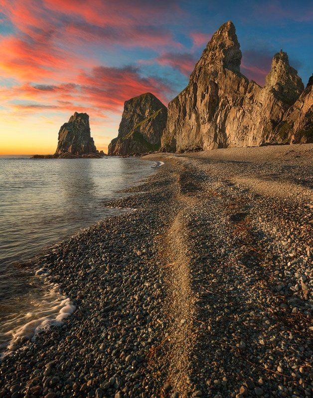 Приморский край заповедник рассвет море солнце Дальневосточные мотивыphoto preview