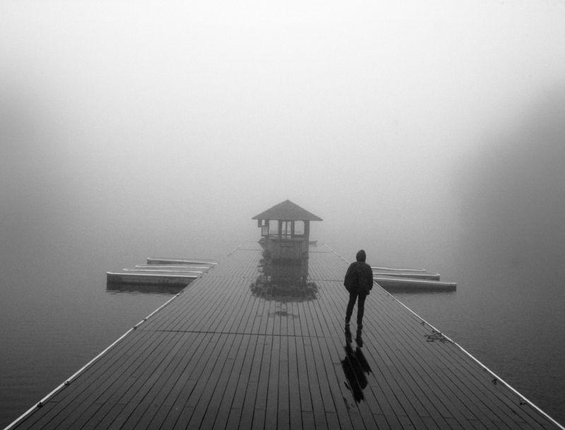 ч/б перспектива, атмосфера, одиночество Все уплылоphoto preview