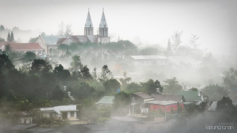 #smog #church #baoloc #tree #fog Dreamphoto preview