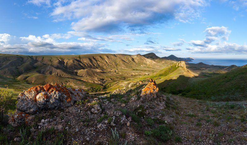 Крым, Коктебель, Киммерия, степь, холмы \