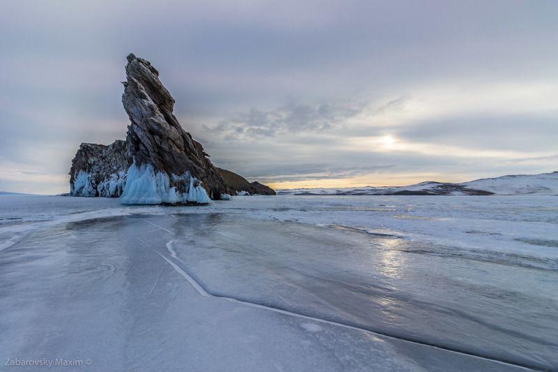 Байкал, Лед, огой, линии, Сибирь, пейзаж, зима Холодное солнце Байкалаphoto preview