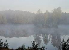 В тумане утреннем...