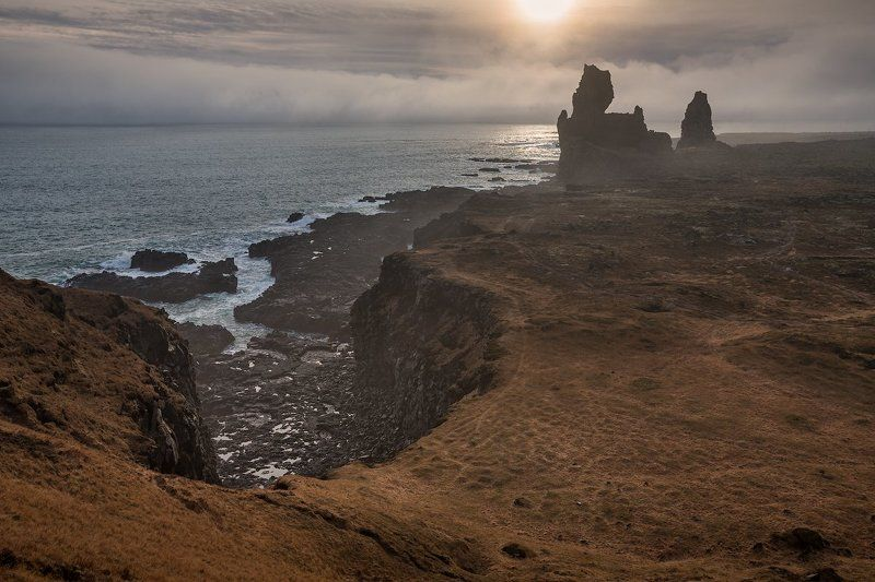 Londrangar basalt cliffs.Island. Londrangar basalt cliffsphoto preview